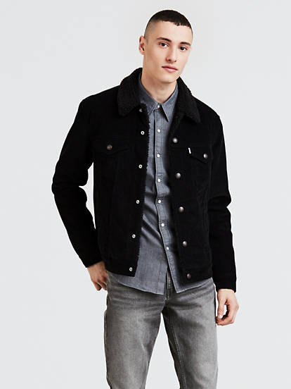 buying new latest discount save up to 60% Corduroy Sherpa Trucker Jacket