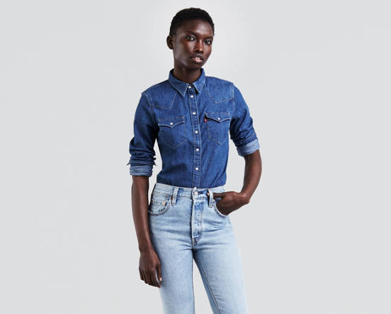 277dea6703 Tailored Western Shirt - Medium Wash