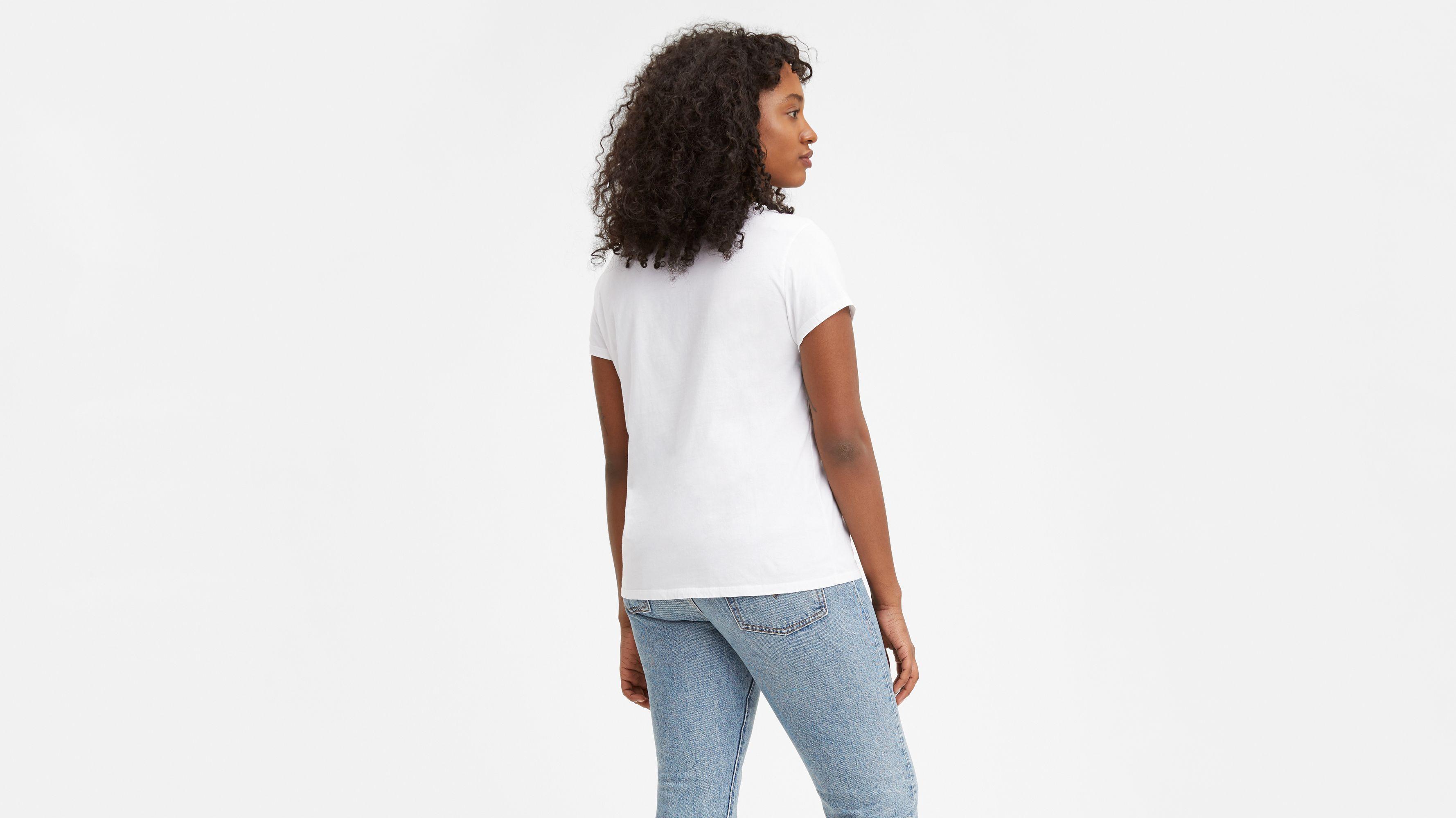 3e8738992 Levi's® Logo Perfect Tee Shirt - White | Levi's® US
