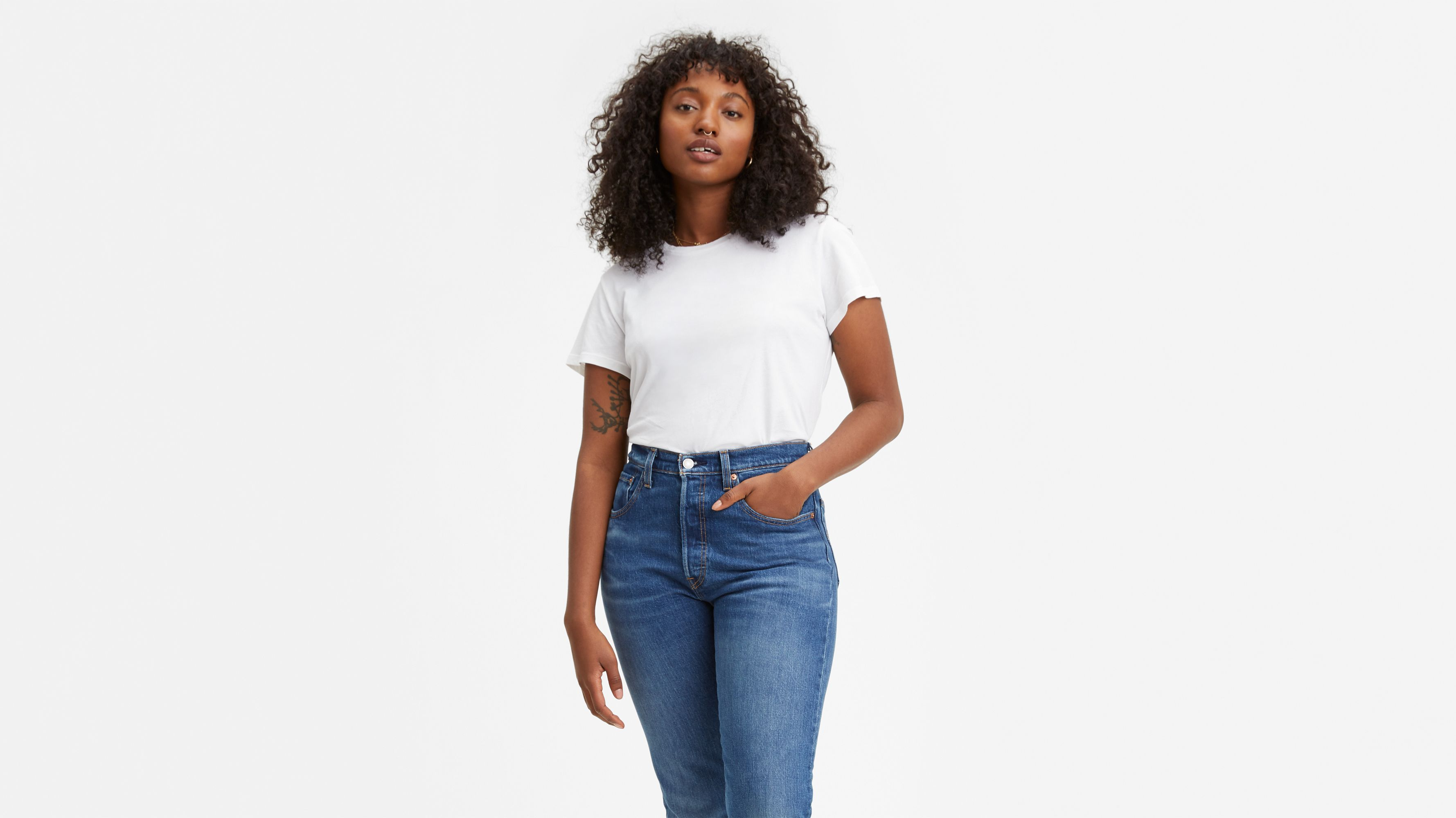 Image result for printed shirts with High Waisted Bell Bottom Jeans
