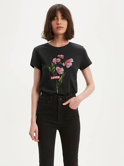 Flower Graphic Tee Shirt