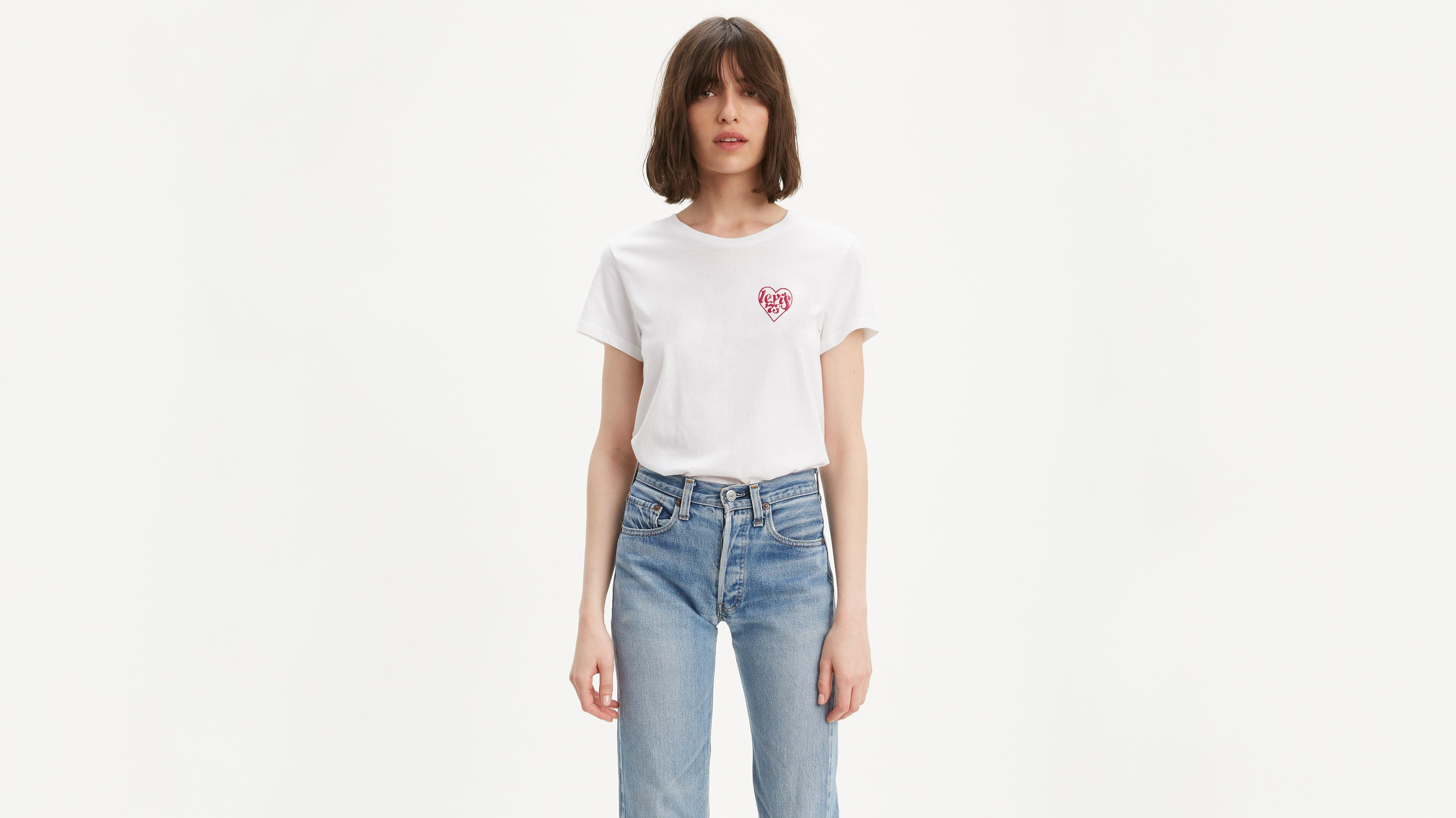 Chest Heart Graphic Tee Shirt