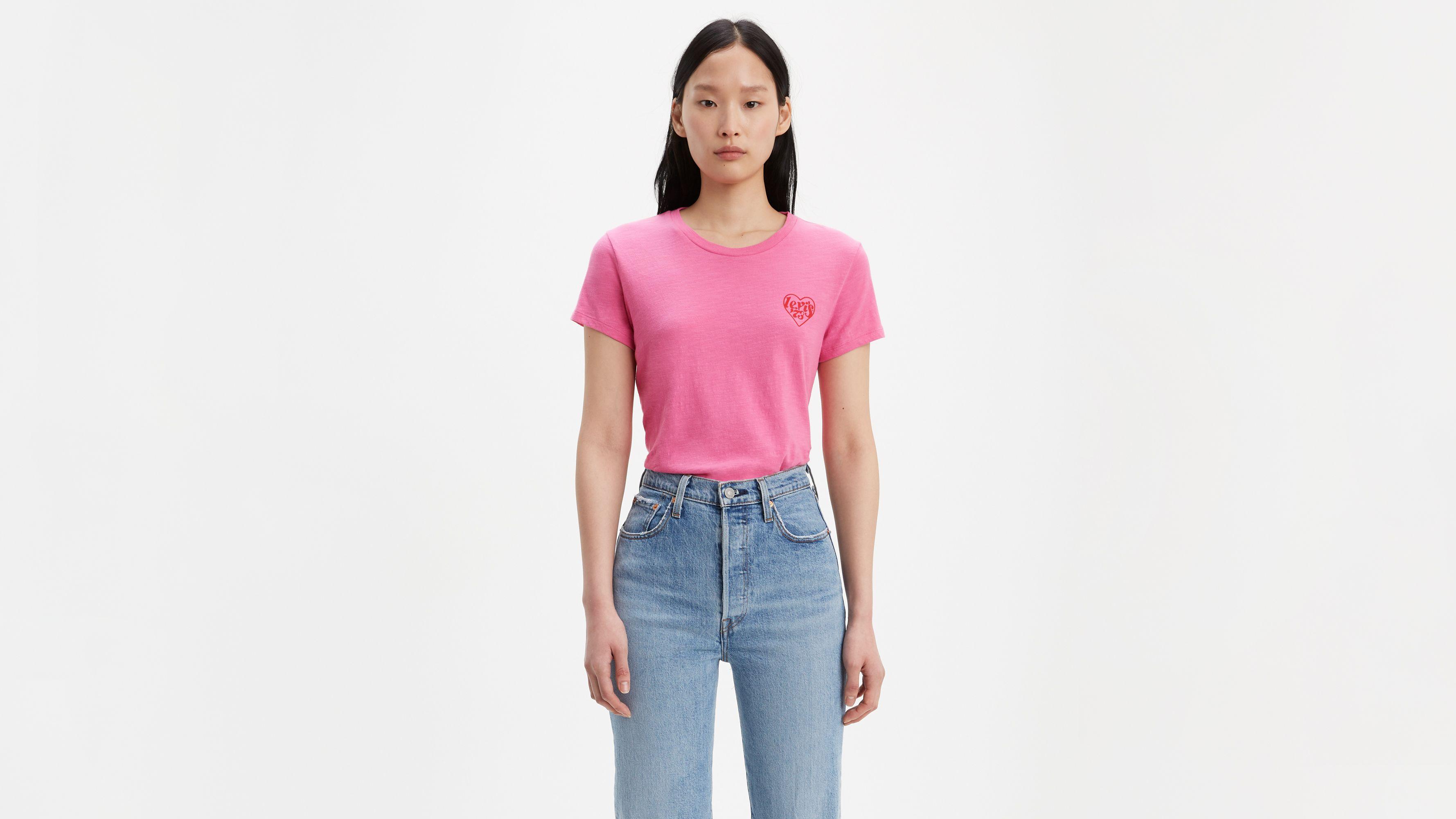 Chest Heart Graphic Tee Shirt