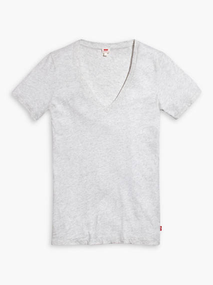 Slim V-Neck Tee Shirt