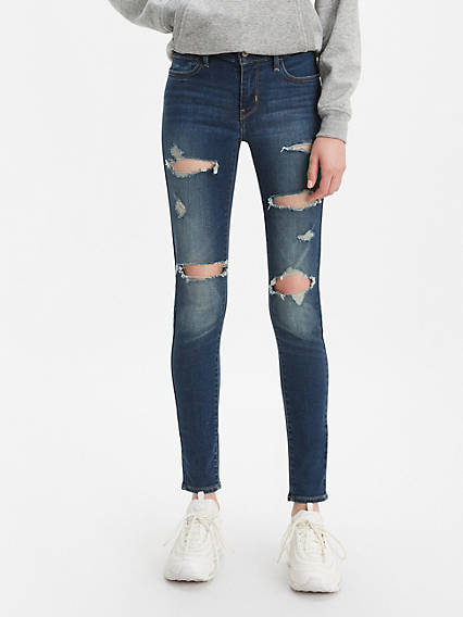 710 Super Skinny Ripped Women's Jeans