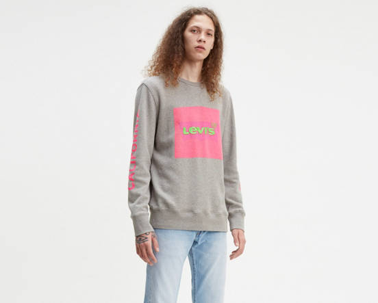 790be538 Use + and - keys to zoom in and out, arrow keys move the zoomed portion of  the image. Mouse over image for a closer look. Levi's® Logo Crewneck  Sweatshirt ...