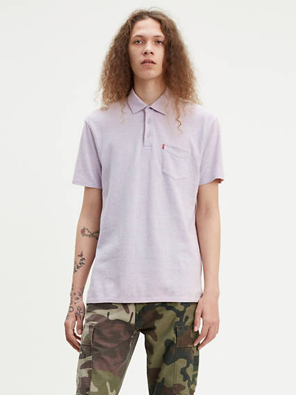 Short Sleeve Sunset Polo Shirt