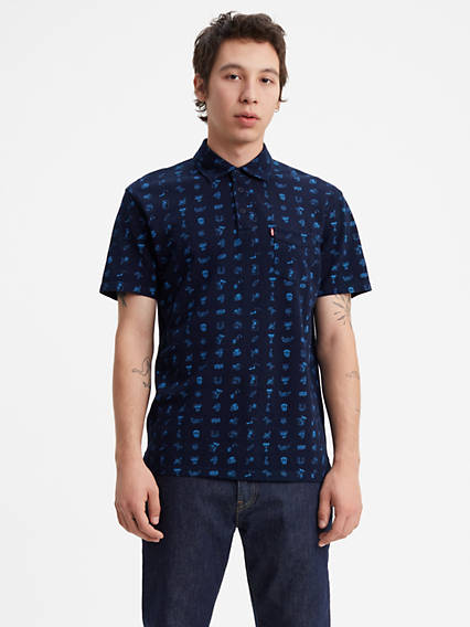 Short Sleeve Sunset Polo Shirt