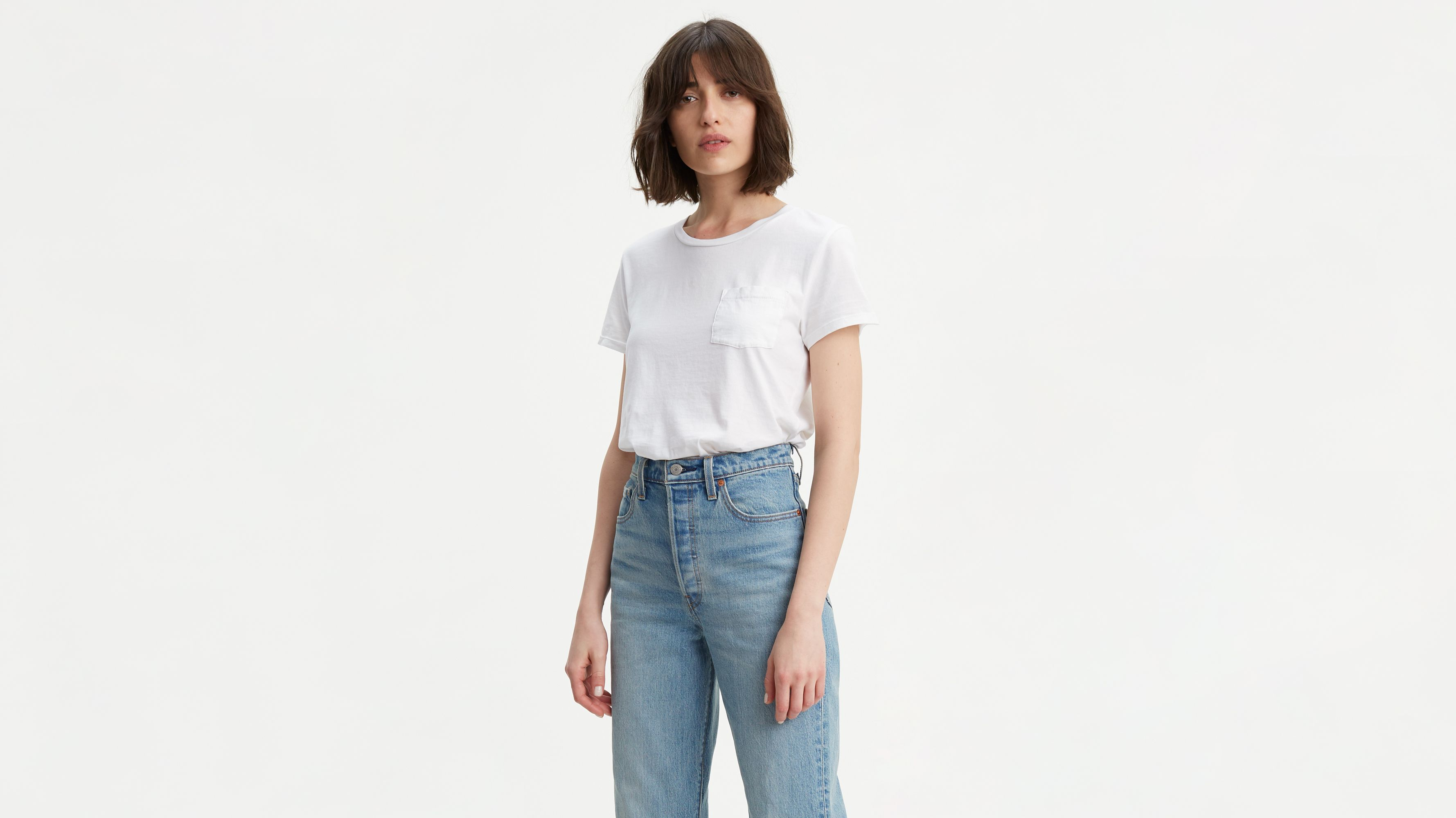 66501c70b50720 Perfect Pocket Tee Shirt - White | Levi's® US