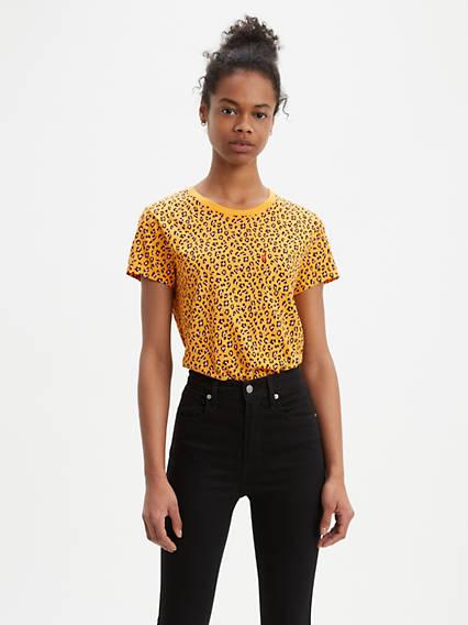 Leopard Print Perfect Pocket Tee Shirt