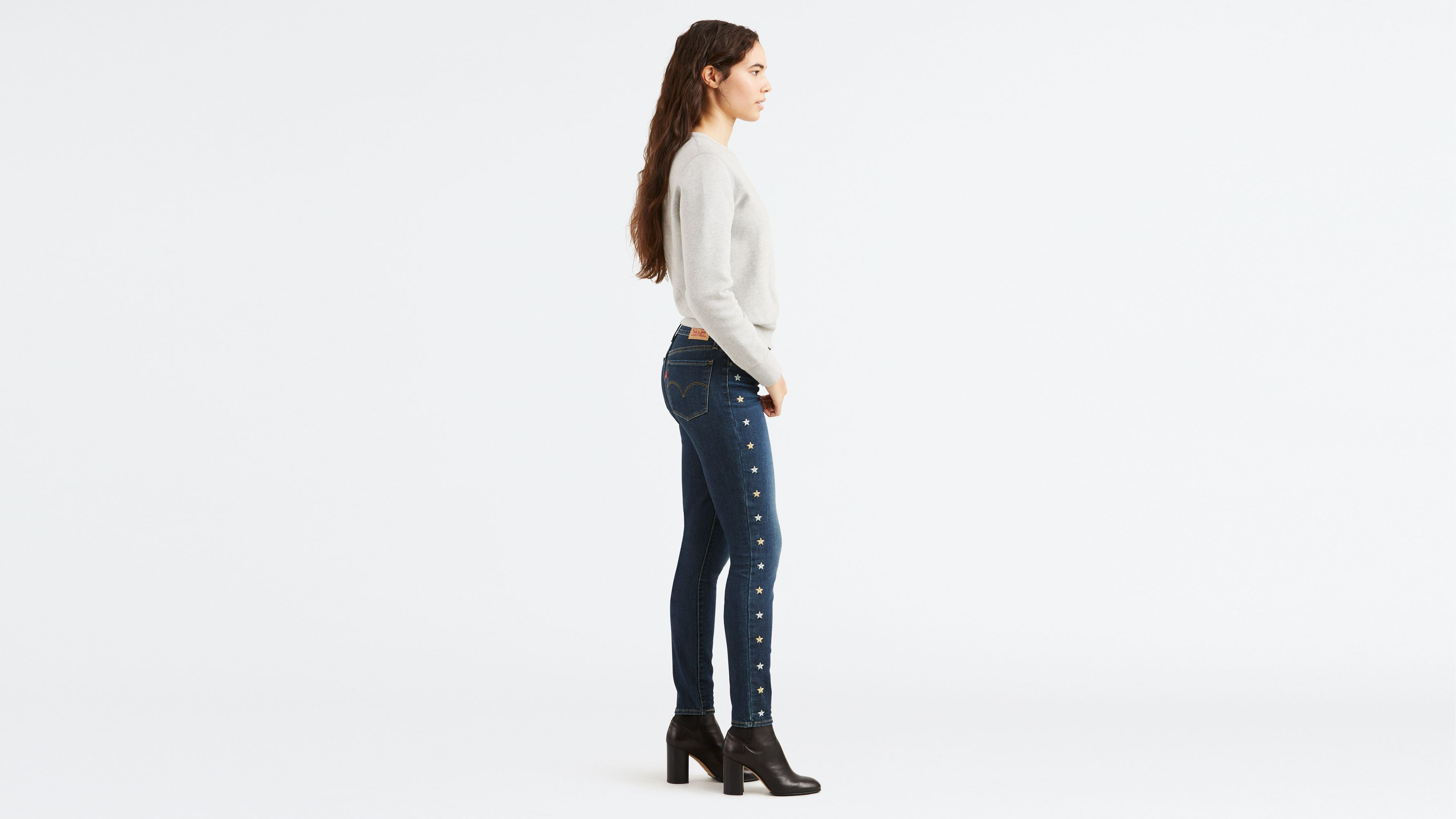 24bbb8b7ecb 711 Embroidered Skinny Jeans - Dark Wash | Levi's® US