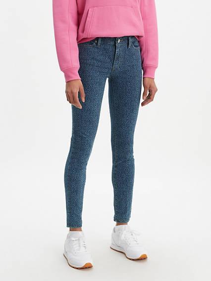 711 Leopard Print Skinny Women's Jeans