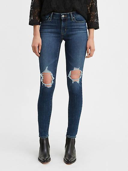 711 Skinny Ripped Women's Jeans