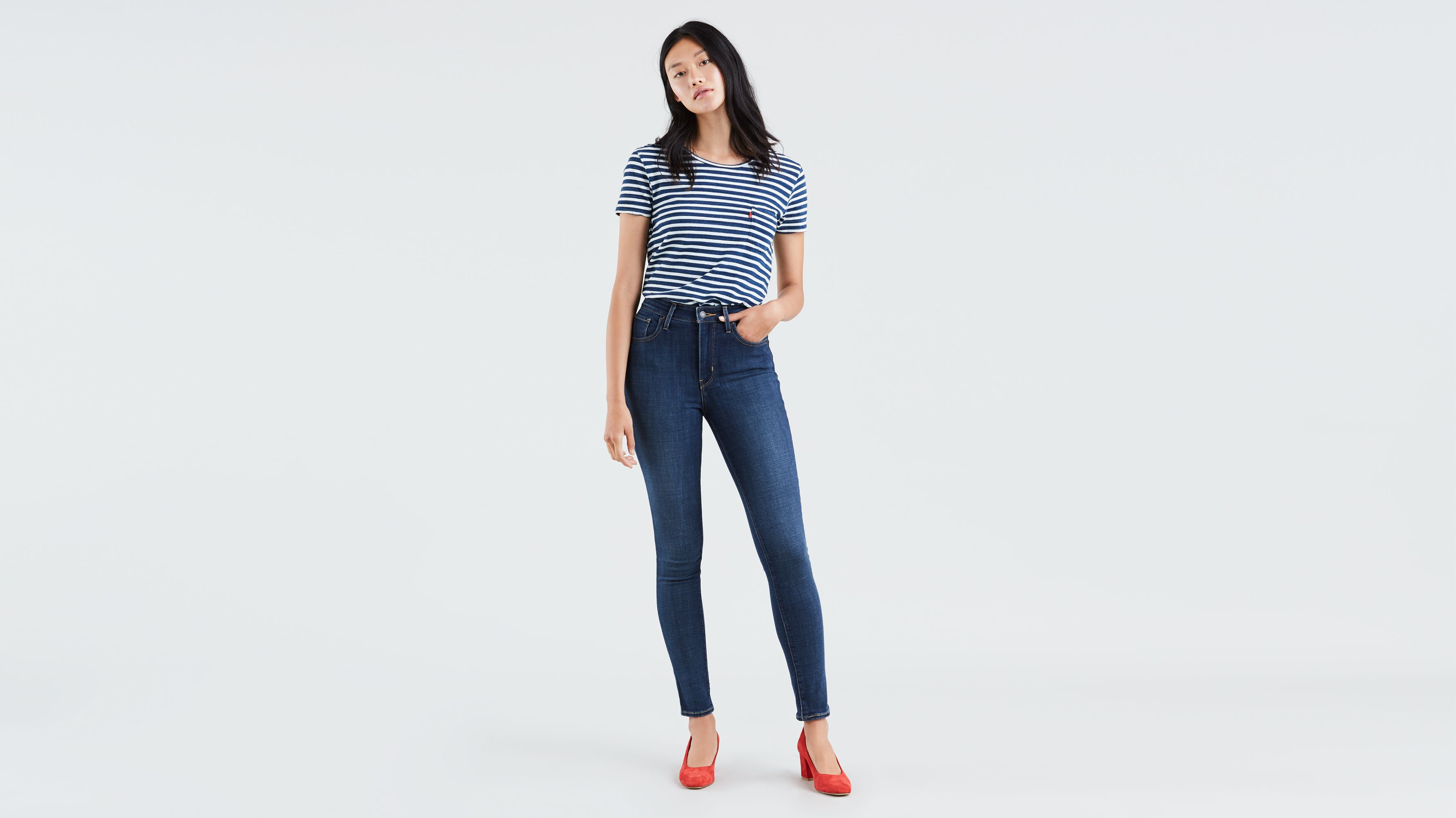 Levi's Women's 721 High Rise Skinny Jeans To The Nine