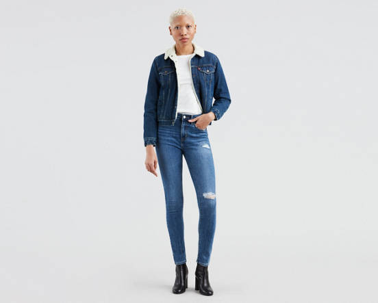 cdf9748e486 721 High Rise Ripped Skinny Jeans - Medium Wash