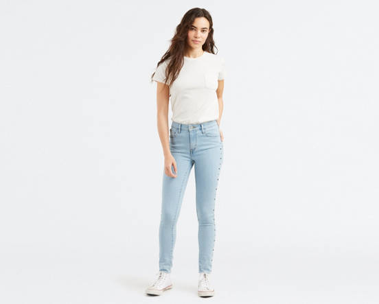 803f9b57ef01 Use + and - keys to zoom in and out, arrow keys move the zoomed portion of  the image. Mouse over image for a closer look. 721 High Rise Studded Skinny  Jeans ...
