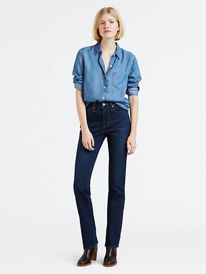 Levi/'s Women/'s 724 High Rise Straight Jeans Choose SZ//color