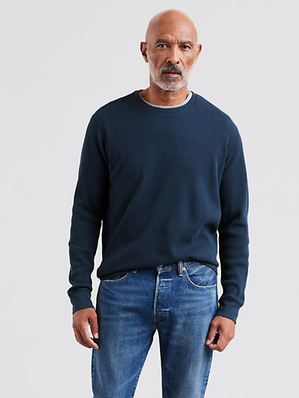 Long Sleeve Thermal Crewneck