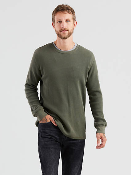 Thermal Crewneck Tee Shirt