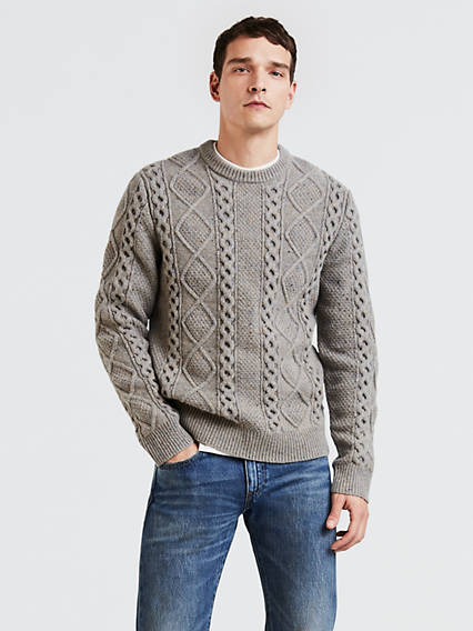 Fisherman Cable Crew Sweaters