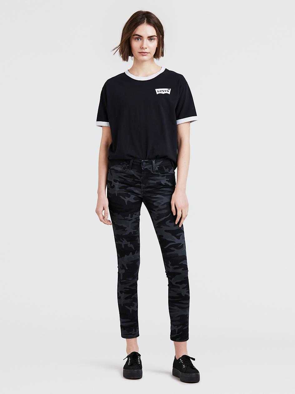 Camo Print 711 Skinny Ankle Women's Jeans - Black | Levi's® US
