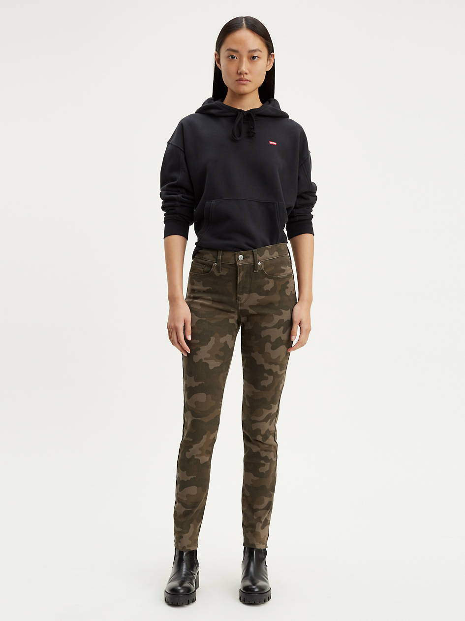311 Shaping Skinny Camo Women's Jeans - Green   Levi's® US