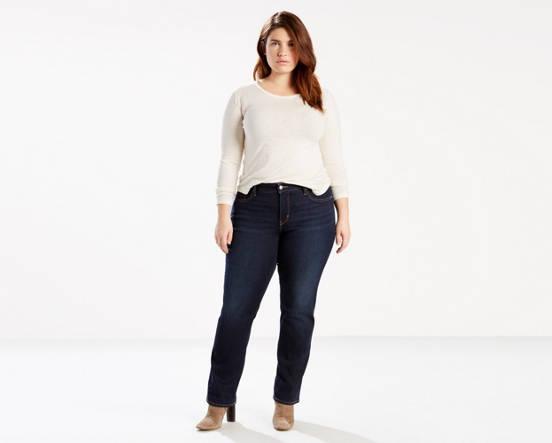 80b6d8cef3d00 Mouse over image for a closer look. 314 Shaping Straight Jeans (Plus Size)  ...