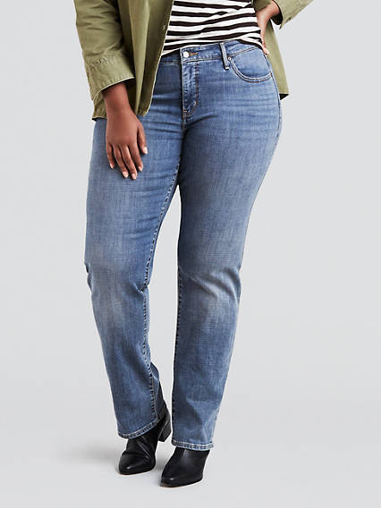 314 Shaping Straight Jeans (Plus)