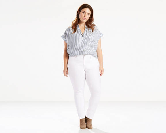 066d9607f5 Fab Four Fashion  White Plus Size Jeans Day   Night  thefabfourfashion