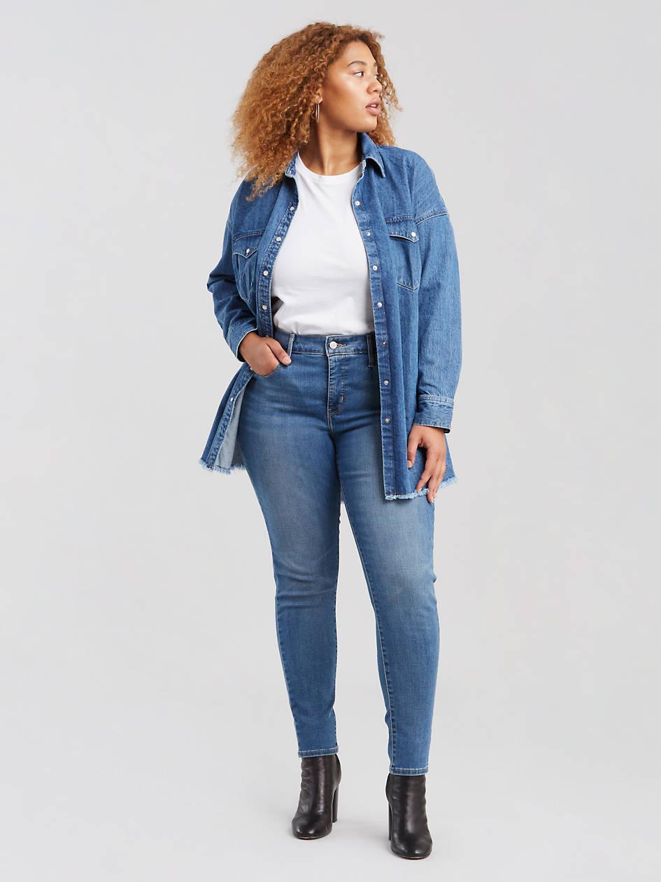 310 Shaping Super Skinny Women's Jeans (plus Size) - Medium Wash   Levi's® US