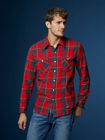 Levi's® MLB Plaid Western Shirt