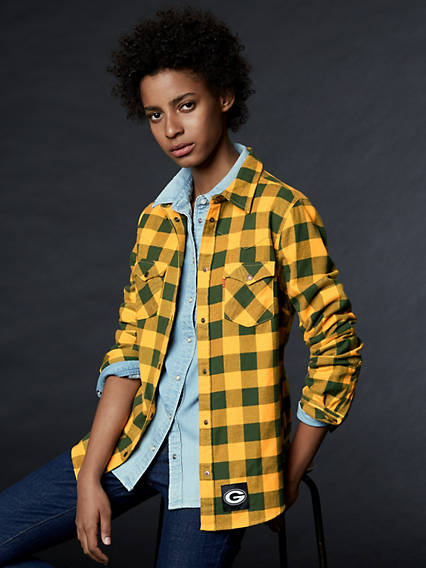 Levi's® NFL Plaid Western Shirt