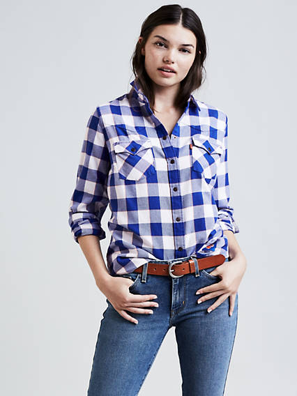 Levi's® NBA Plaid Western Shirt