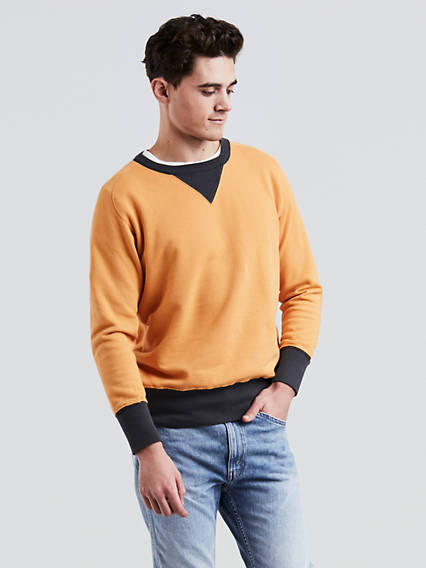 1930s Men's Clothing Levis Bay Meadows Sweatshirt - Mens XS $114.98 AT vintagedancer.com