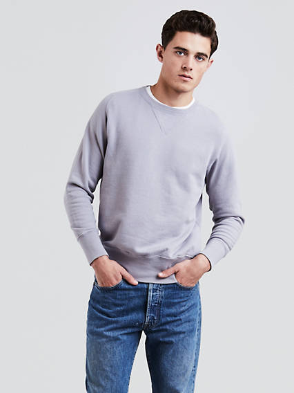 1930s Men's Clothing Levis Bay Meadows Sweatshirt - Mens L $114.98 AT vintagedancer.com
