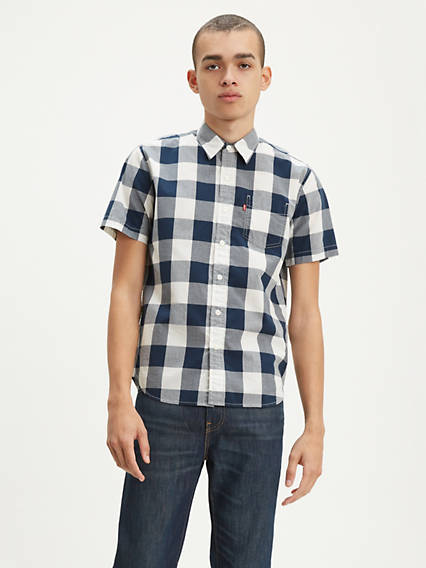 Buffalo Check Short Sleeve Classic One Pocket Shirt