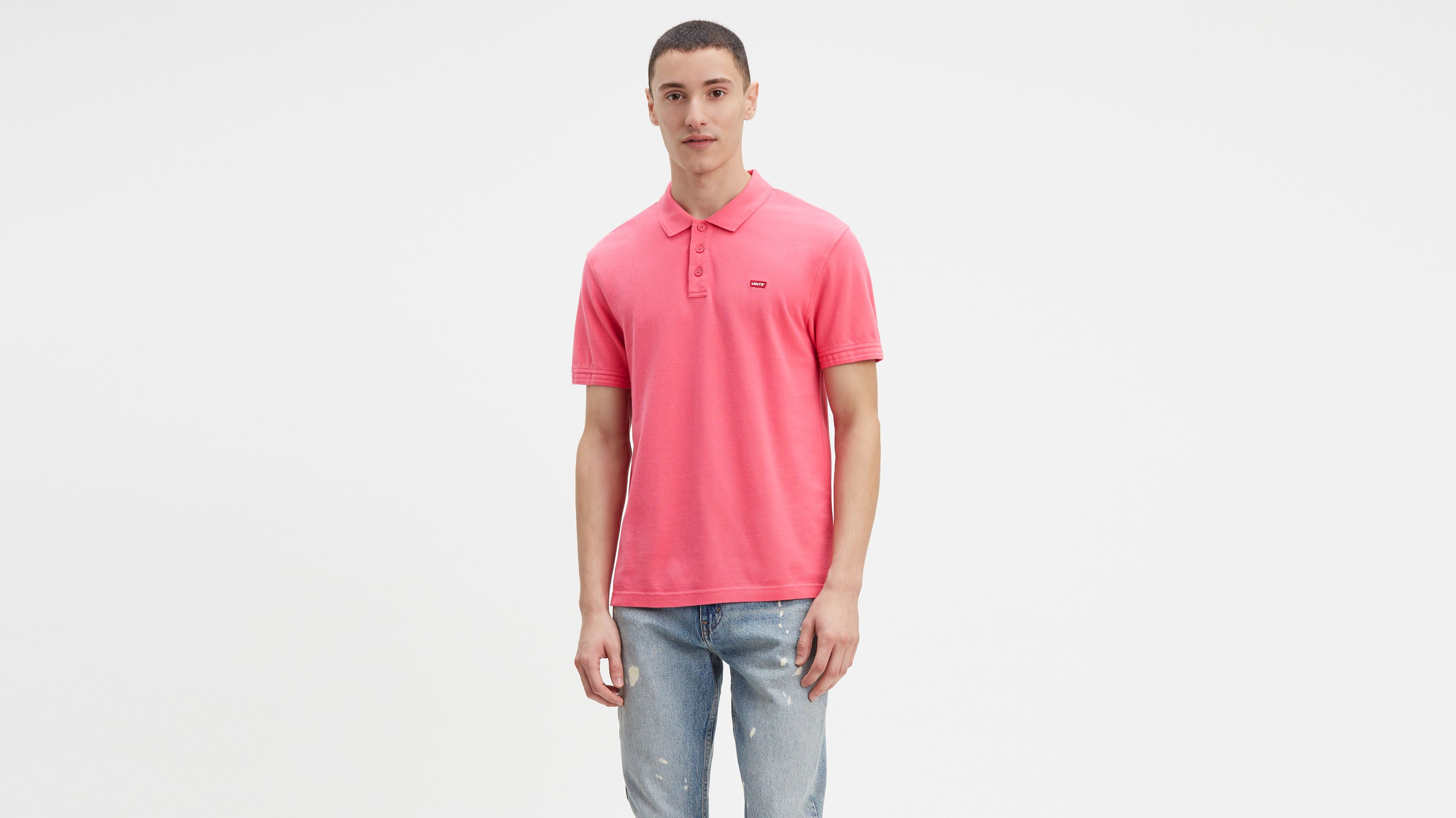 4470d924 Levi's® Housemark Polo - Pink | Levi's® GB