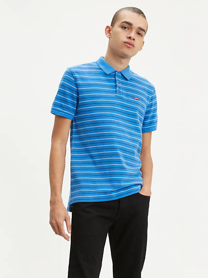 Levi's® Chest Logo Striped Polo Shirt