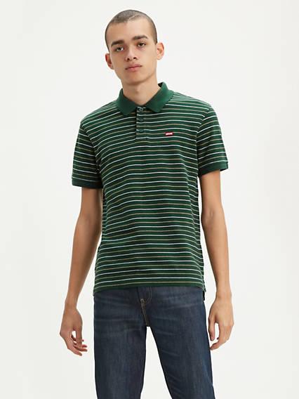 Levi's® Chest Logo Striped Polo Shirt