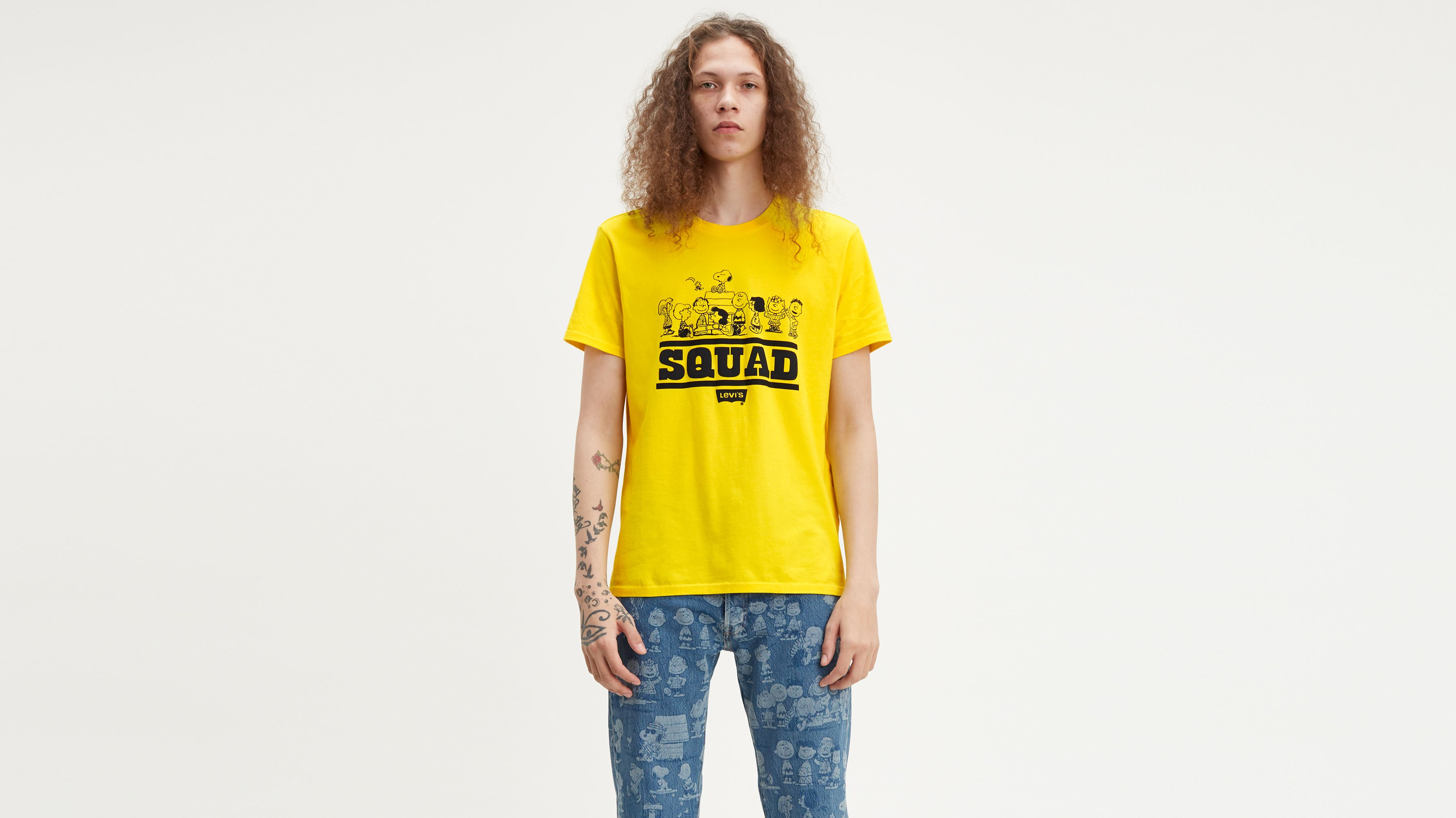 08a76894a Levi's® X Peanuts Graphic Tee Shirt - Yellow | Levi's® US