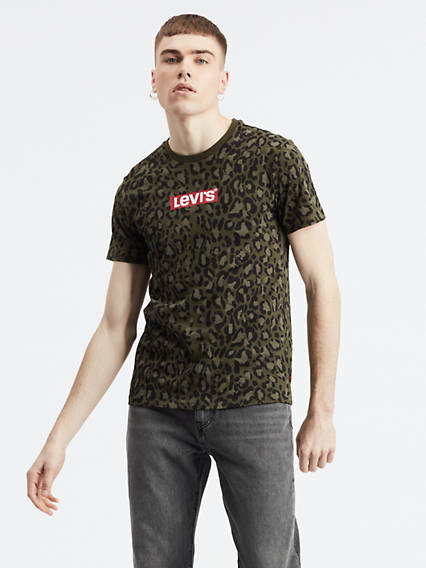 Camo Box Tab Graphic Tee Shirt