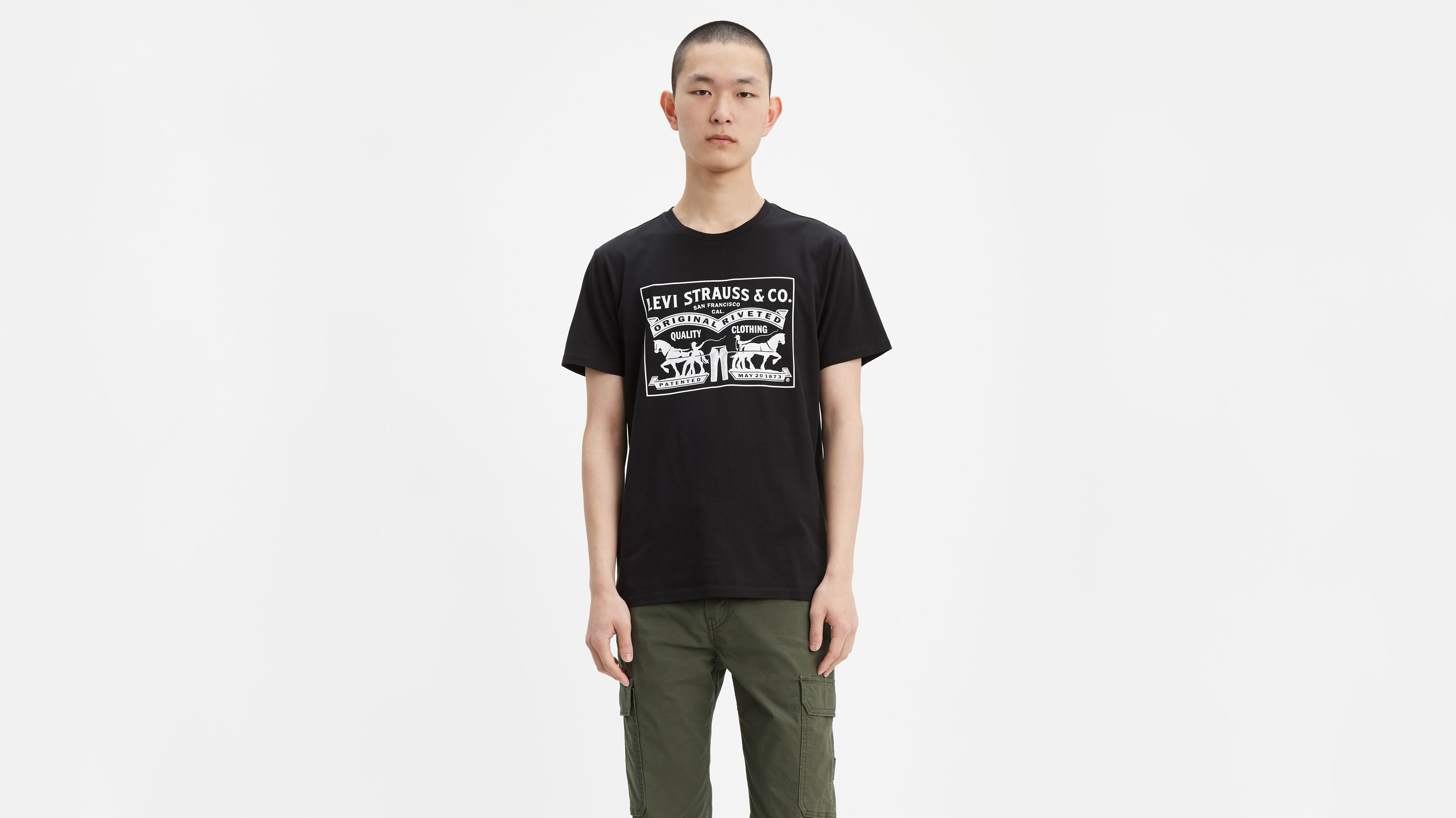 Two Horse Graphic Tee Shirt