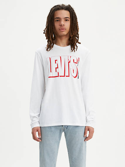 Long Sleeve Levi's® Text Graphic Tee Shirt