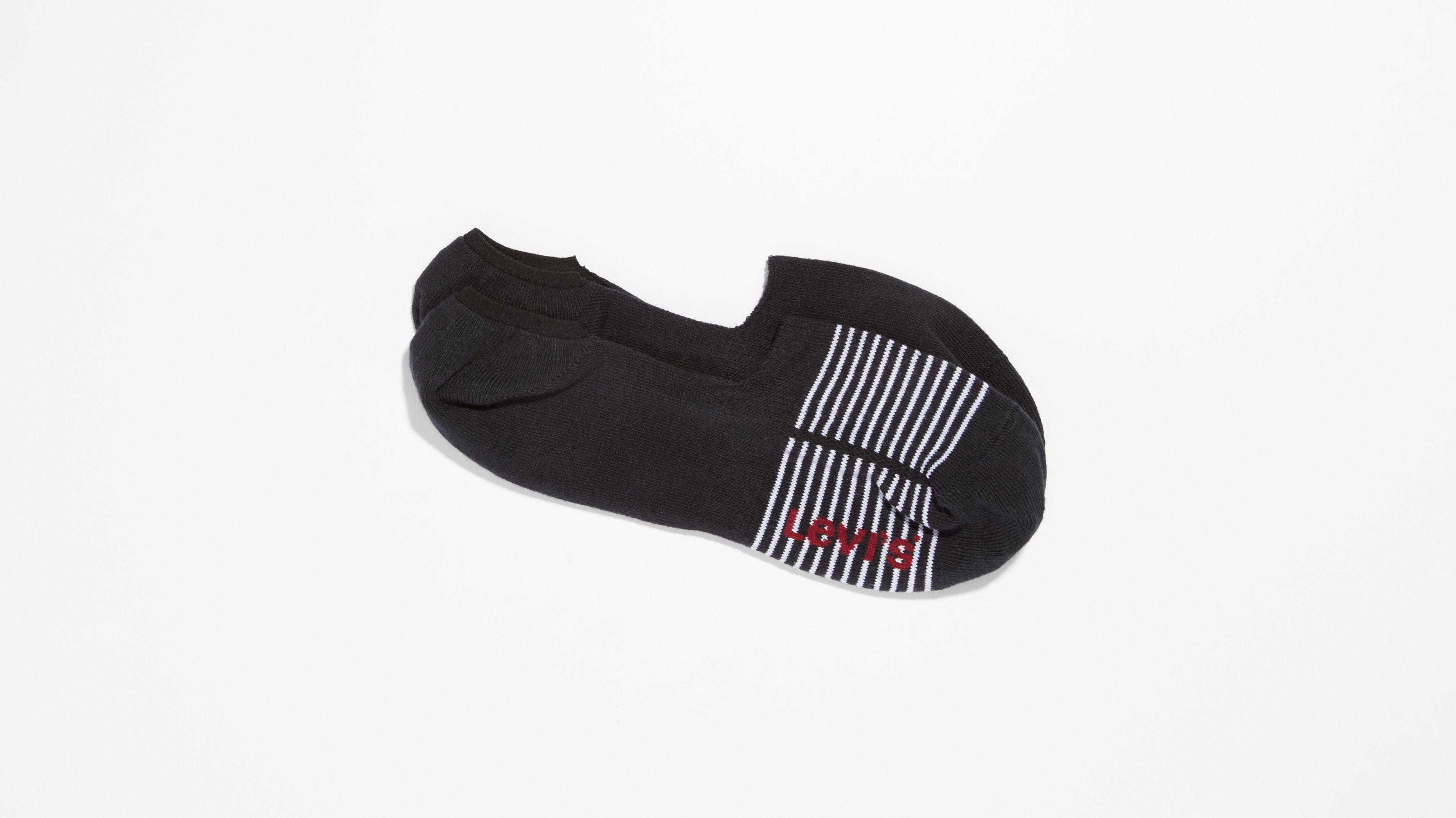 47f0235ce6 Levi's® 2 Pack No Show Socks - Black | Levi's® US