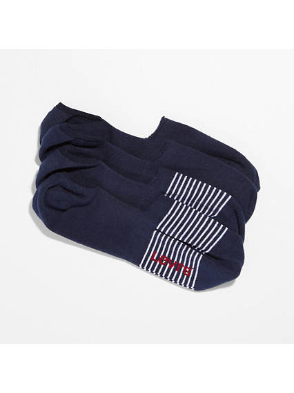 Levi's® 2-Pack No Show Stripe & Solid Socks