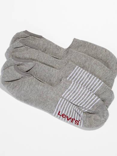Levi's® 2-Pack No Show Stripe & Solid Socks