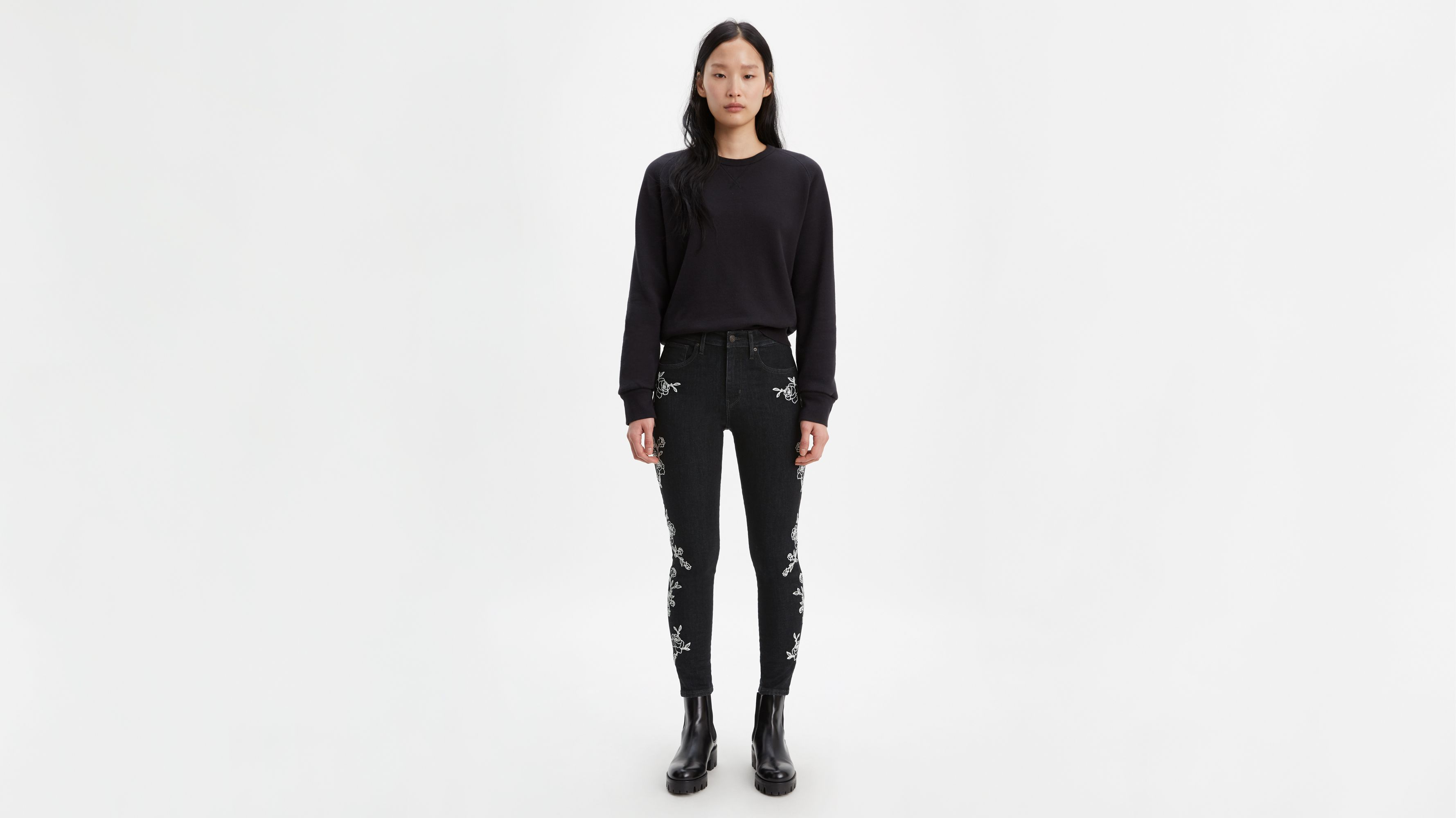 721 High Rise Embroidered Ankle Skinny Women's Jeans