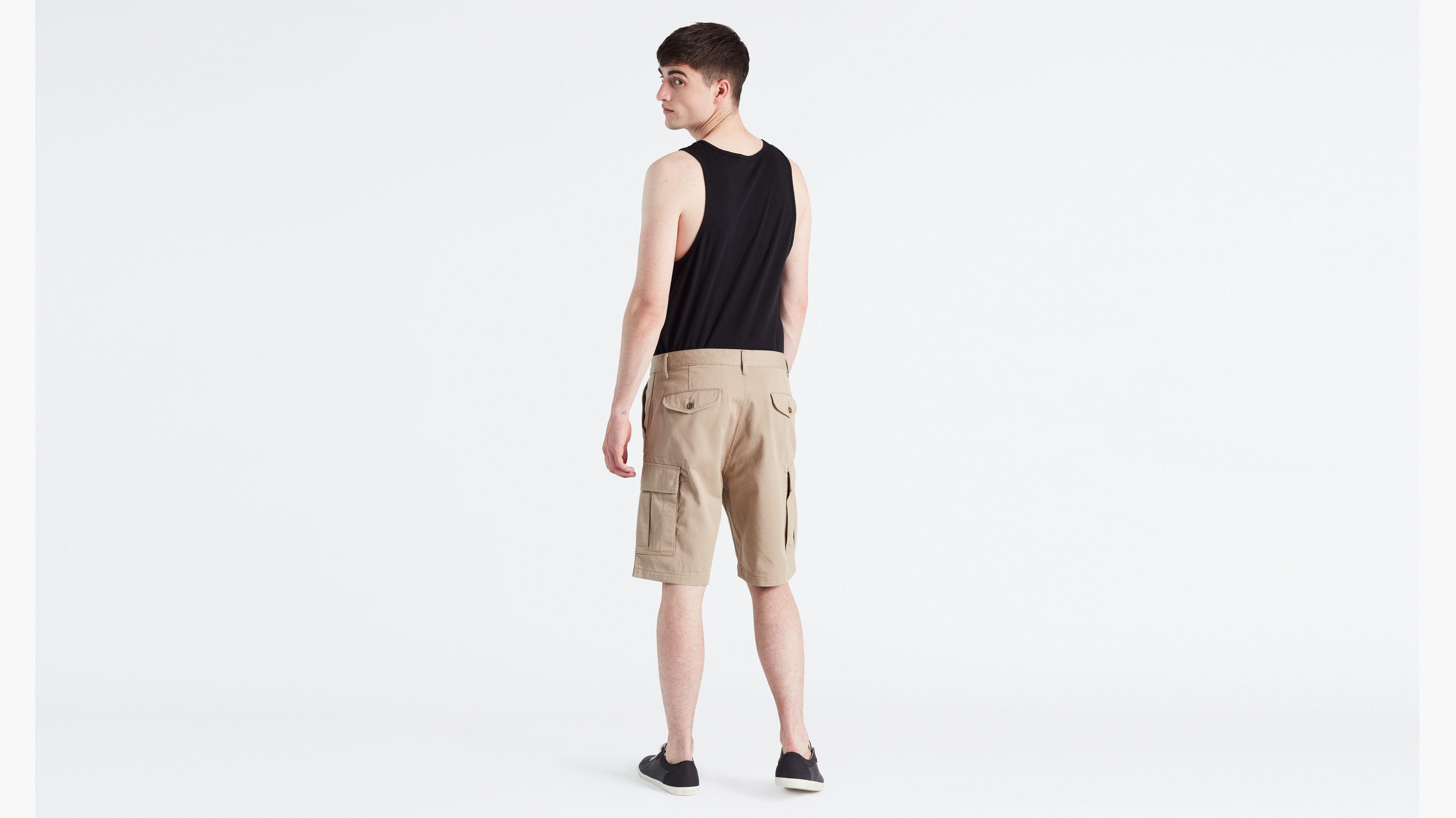 Access Mens Big /& Tall Solid Color Jean Twill Shorts Khaki, 56