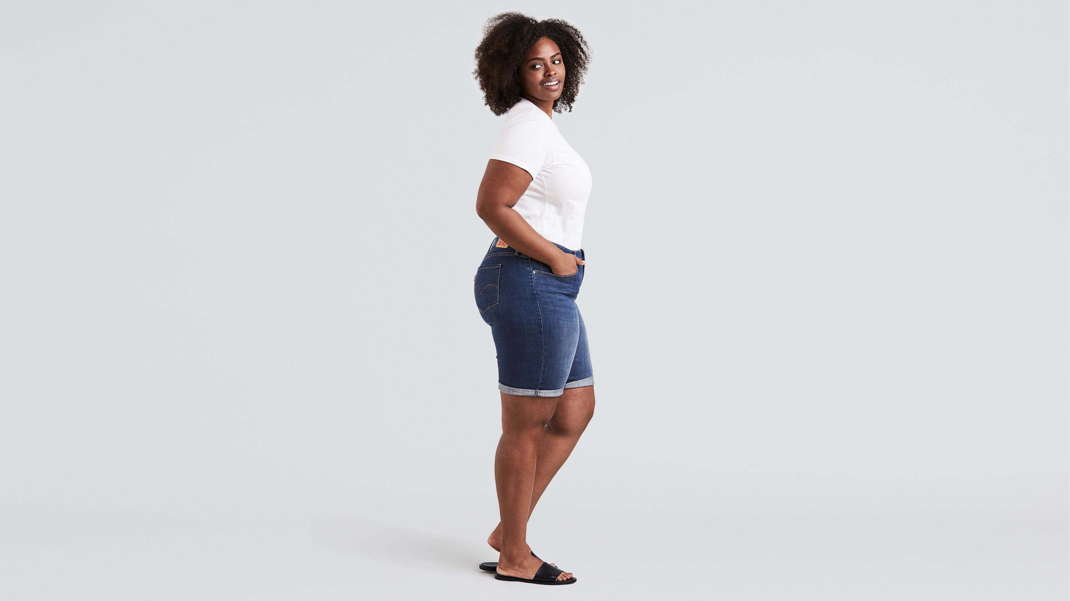 64a204e771 Shaping Bermuda (plus Size) - Dark Wash | Levi's® US