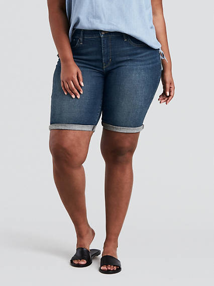 92a1d781f3 Shaping Bermuda Shorts (Plus Size)